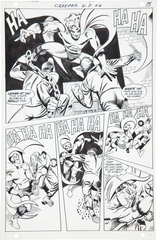 steve ditko original art the creeper