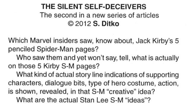 steve ditko, the comics, essay, silent self-deceivers, robin snyer, ditkocultist