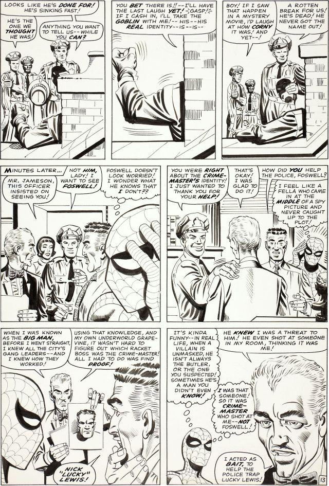 Steve ditko original art to amazing spider-man #27 page 13