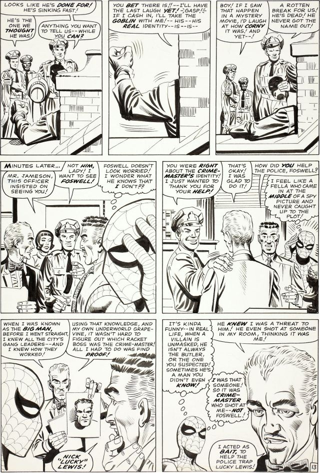 Steve ditko original art to amazing spider-man #27 page 13