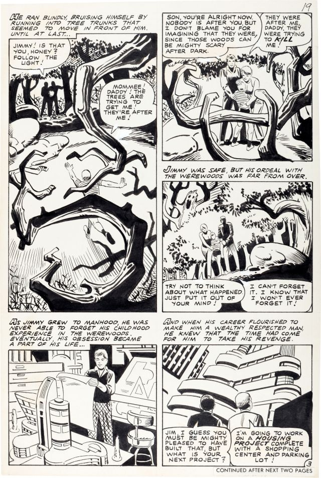 steve ditko ghost manor 31 original art fs