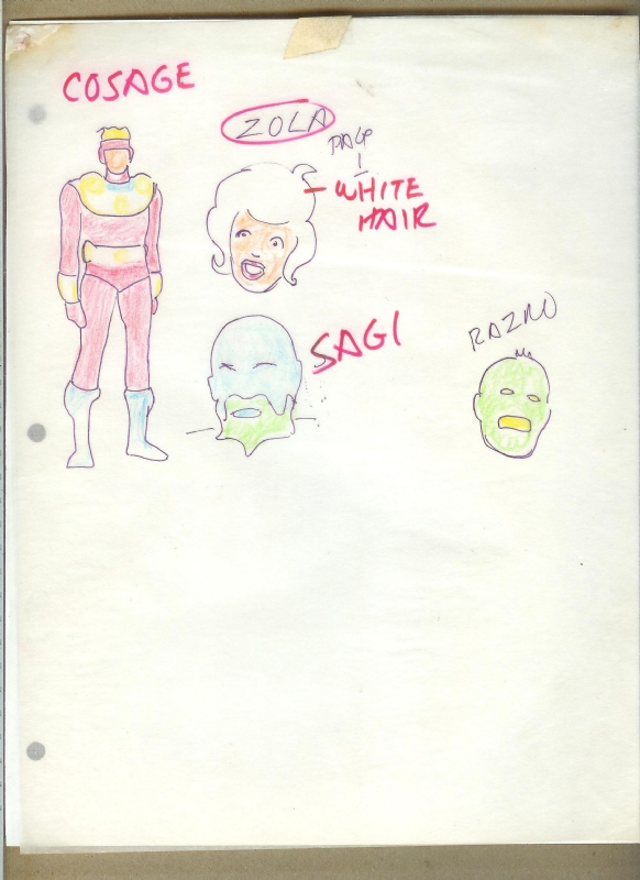 Unpublished Ditko: Sketches and Color Guides For COSAGE