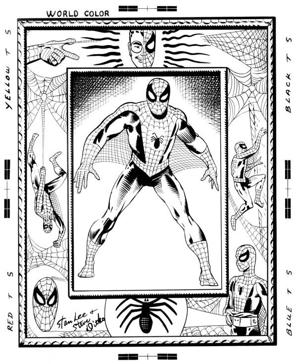 spider-man pin-up ditkocutlist ditko recreation
