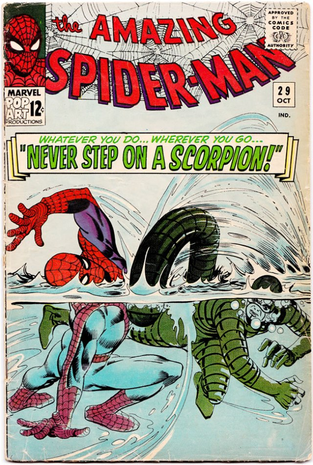 steve ditko amazing spiderman 29 cover