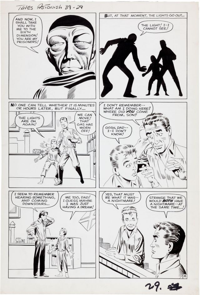 Steve Ditko Tales to Astonish 39 The Toy Soldiers Page 4 Original Art