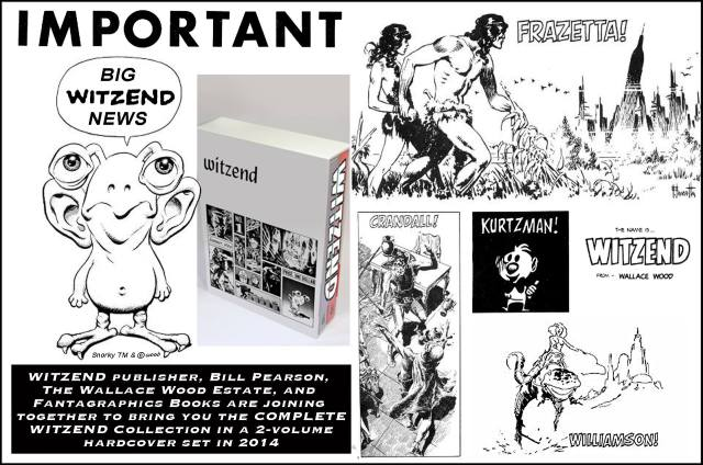 steve ditko witzend collection wally wood estate fantagraphics