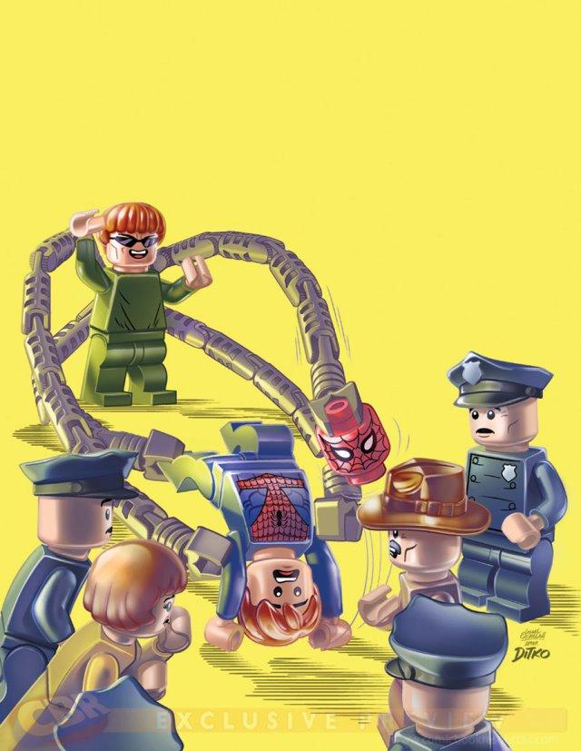 steve ditko amazing spider-man 12 lego cover variant