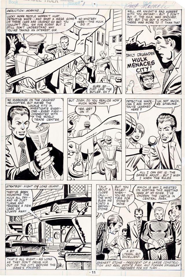 Steve Ditko and Al Milgrom Incredible Hulk Annual #9 Page 11 Original Art